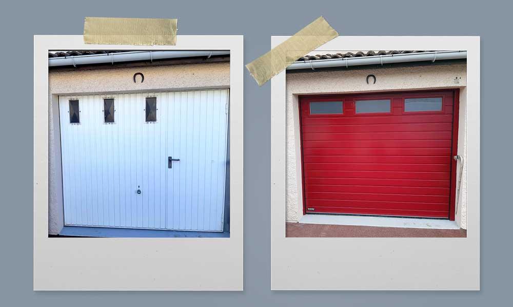 Pose porte garage Valence