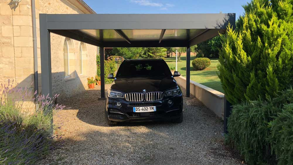 Réalisation pose carport aluminium Valence