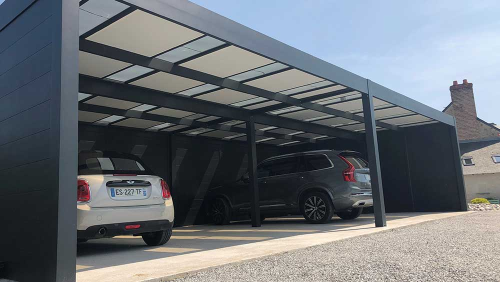 Installation carport aluminium Valence