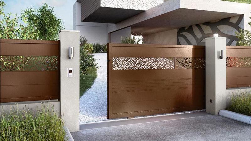 Pose portail coulissant aluminium Valence
