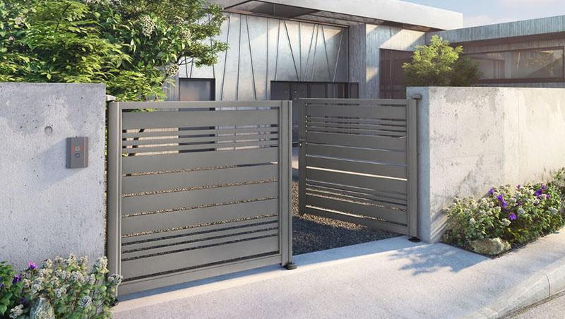 Pose portail aluminium battant 2 vantaux Valence