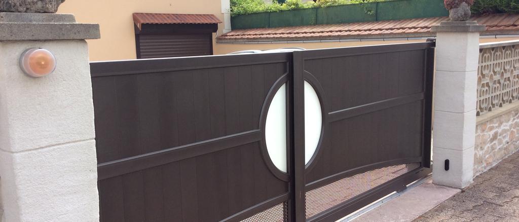 Pose portail coulissant 2 vantaux Valence