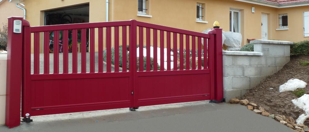 Pose portail battant 2 vantaux motoriés Valence
