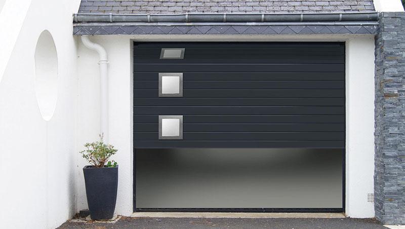 Pose porte de garage sectionnelle Valence